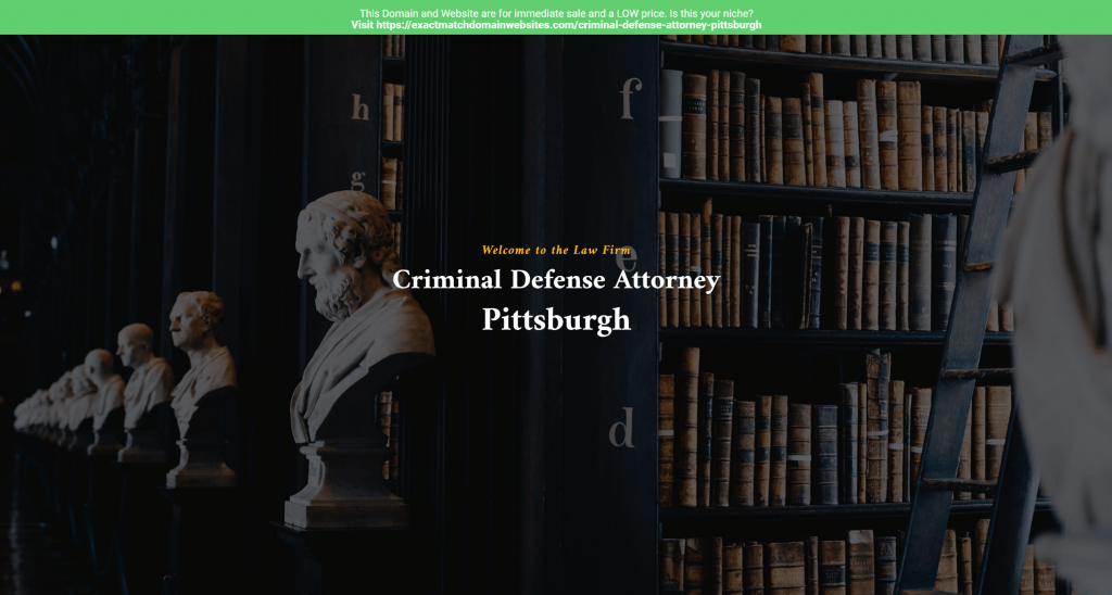 Criminal Defense Attorney Pittsburgh