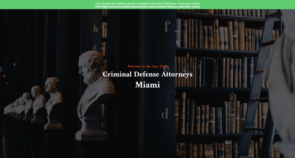 Criminal Defense Attorneys Miami
