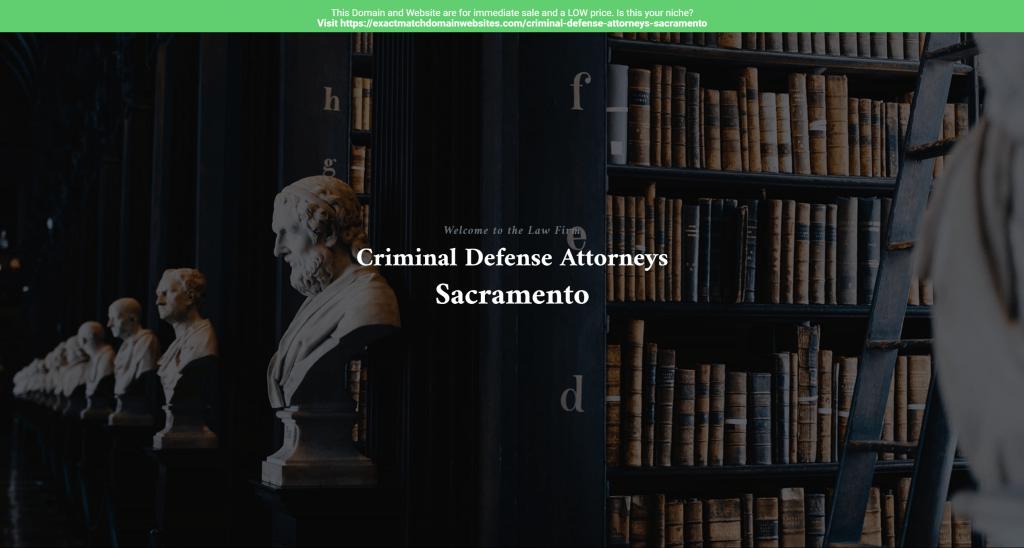 Criminal Defense Attorneys Sacramento